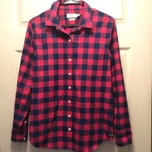 Vineyard Vines Pink And Blue Buffalo Check Flannel